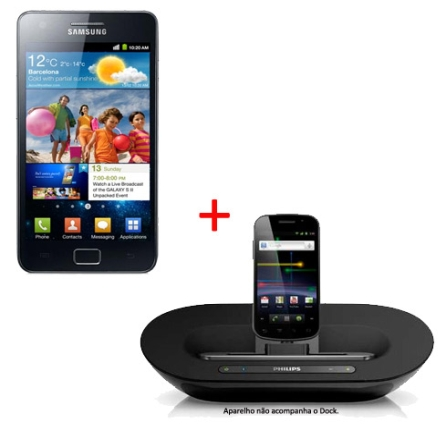 Smartphone Samsung Galaxy S II + Dock Station