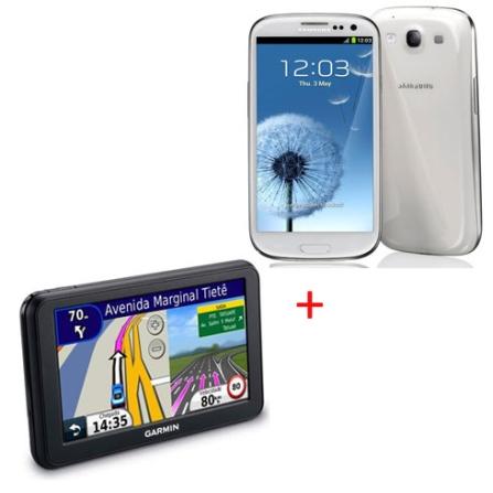 Smartphone Samsung Galaxy S III I9300 Branco com Display de Super AMOLED de 4,8