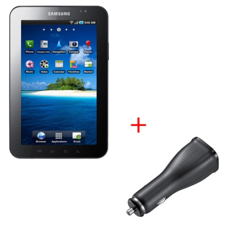 Tablet Samsung Galaxy P1000 + Carregador Veicular