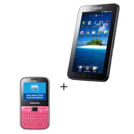 Samsung Galaxy Tab 3G + Celular Nokia C322 Chat