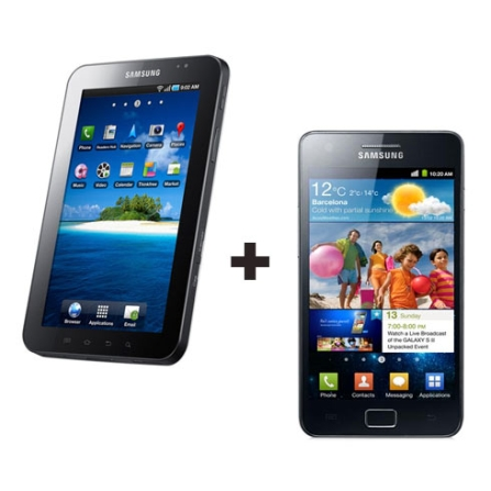 Smartphone Samsung Galaxy S II + Tablet Galaxy