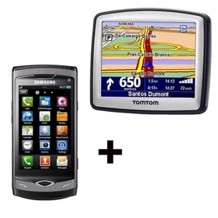 Compre Celular Wave Samsung e leve GPS One TomTom