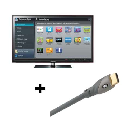 Smart TV LED 32'' Full HD Wi-Fi + Cabo Samsung, VD