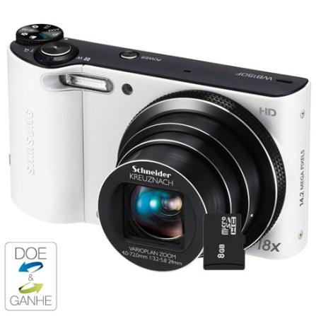 Câmera Digital Samsung WB150F Branca com 14.2MP, Tela LCD 3