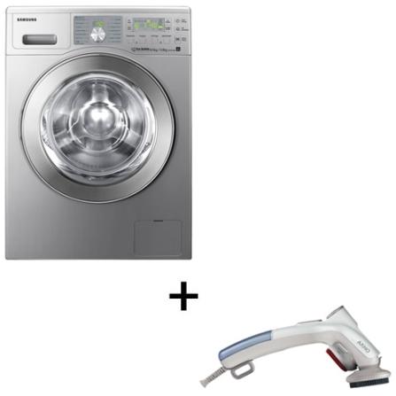 Lavadora e Secadora de Roupas Samsung + Steamer, 110V