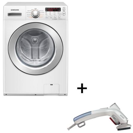 Lavadora e Secadora de Roupa Samsung + Steamer, 110V