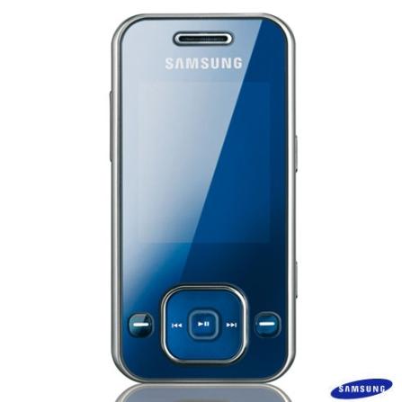 Celular GSM F250 Universal Blue com Câmera 1.3MP / MP3 Player / Rádio FM / Bluetooth / Cartão de 512MB - Samsung