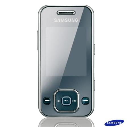 Celular GSM F250 Prata com Câmera 1.3MP / MP3 Player / Rádio FM / Bluetooth / Cartão de 512MB - Samsung