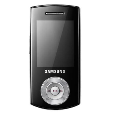 Celular GSM F275 Preto com Câmera de 2.0MP / Duplo Slide-up / MP3 Player / Rádio FM / Bluetooth - Samsung