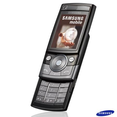 Celular GSM G600 com Câmera 5 MP / MP3 Player / Rádio FM / Bluetooth / Grafite - Samsung