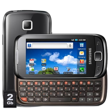 Samsung Galaxy 551, Android 2.2, Wi-Fi, Bivolt, Bivolt, Preto, 3.2'', True, 1, N, True, True, True, True, True, True, I, 12 meses, Mini Chip