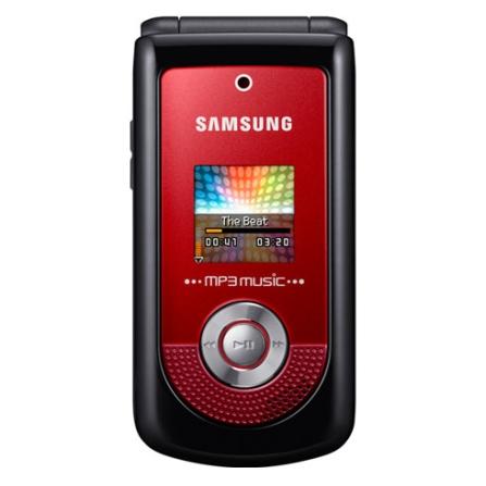 Celular GSM M2310 Beat Pop Vermelho com Câmera VGA / MP3 Player / Bluetooth Estéreo / Rádio FM / Cartão de 1GB - Samsung
