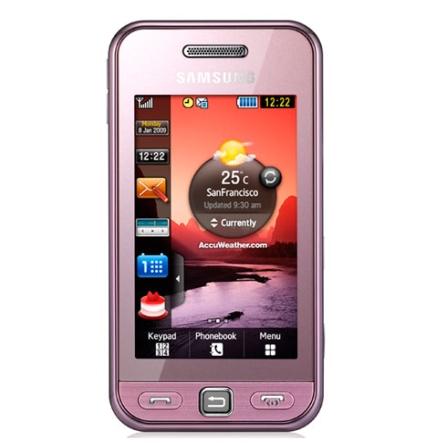Celular S5230 Touch Star Rosa c/ Bluetooth Samsung