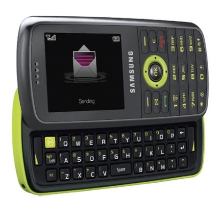 Celular GSM T459 Scrapy Grafite e Verde com Câmera 1.3MP / MP3 Player / Bluetooth / Teclado QWERTY / Cartão Micro SD de