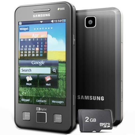 Celular Samsung I6712 Duos, TV Digital, Touch 3,2