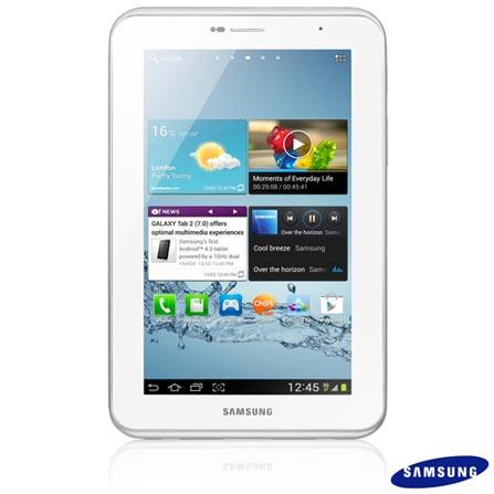 Tablet Samsung Galaxy Tab 2 7.0 P3110 Wi-Fi Branco com Display 7