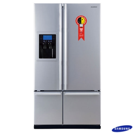 EXCLUSIVO: Refrigerador Side by Side 701L Frost Free com Dispenser de Água/Gelo / Display Digital / Silver Nano / Inox -, 110V, LB, 701 Litros, 02 Portas