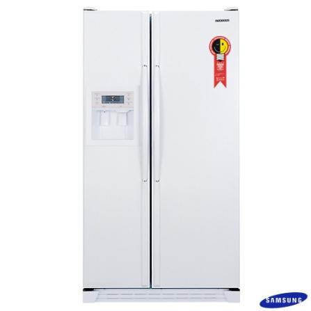Refrigerador Side by Side 532L Nano Branco Samsung - RS21DASW, 110V, LB, Side by Side, 02 Portas, Acima de 500 litros, 432 Litros, 346 Litros, 186 Litros, Classe A, Sim, Sim, Branco