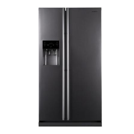 Refrigerador Side by Side 524L Frost Free com Display Digital / Dispenser de Água e Gelo / Silver Nano / Twin Cooling / Prata -, 110V, LB, 524 Litros, 02 Portas, Acima de 500 litros