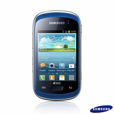Smartphone Samsung Galaxy Music Duos S6012 Azul Dual Chip com 3G, Wi-Fi, Android 4.1, Processador 850 Mhz, Tela de 3