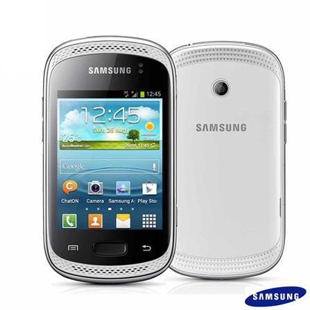 Smartphone Samsung Galaxy Music Duos S6012 Branco Dual Chip com 3G, Wi-Fi, Android 4.1, Processador 850 Mhz, Tela de 3
