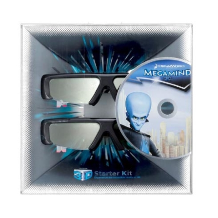 Kit c/ 2 2 Óculos 3D e 1 Filme Megamind Samsung, VD