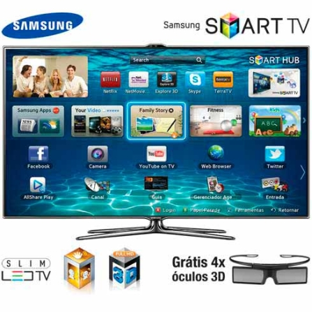 TV Slim LED Samsung ES7000 com 40