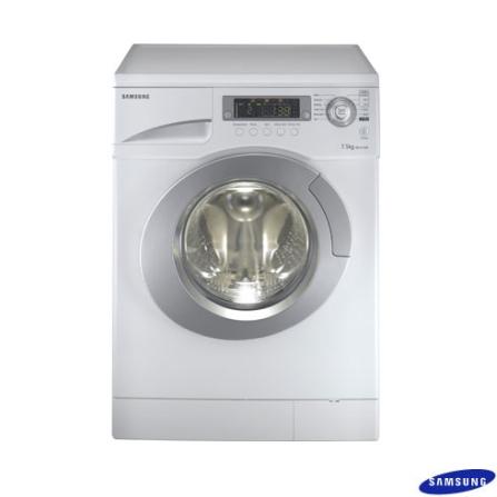 EXCLUSIVO: Lavadora e Secadora de Roupa 8.5 Kg / Display digital / Cesto em inox / Branca - Samsung - WDQ1456V, 220V, LB, 8,5 kg, Lava-Seca