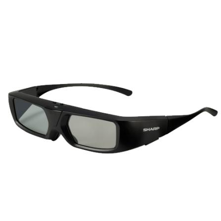 Óculos Ativos 3D Sharp AN3DG30 Compatível com os Monitores Quattron LC-70M845B e LC-80M844B