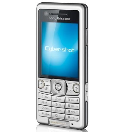 Celular 3G C510 Cyber-Shot Prata com Câmera 3.2 MP / Smile Shutter / MP3 Player / Rádio FM com RDS / Compatível com YouT