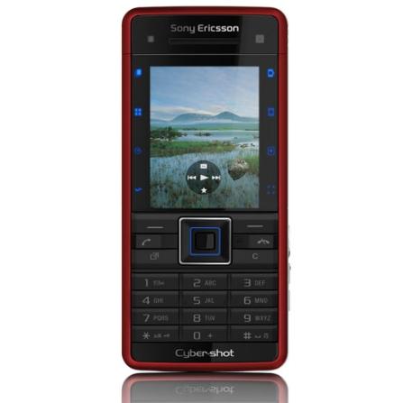 Celular GSM C902 Vermelho com Câmera de 5.0MP / MP3 Player / Rádio FM / Bluetooth / Cartão de 2GB - Sony Ericsson