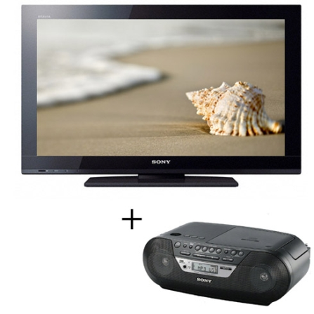TV LCD BX325 22'' + Micro System ZS-RS09 Sony, VD