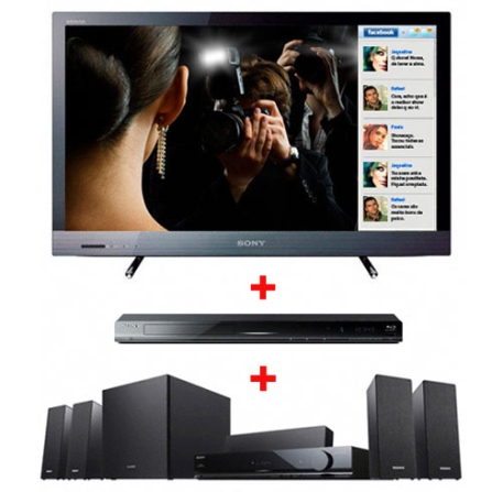 TV LED EX525 32'' Full HD + Home Theater Sony, VD