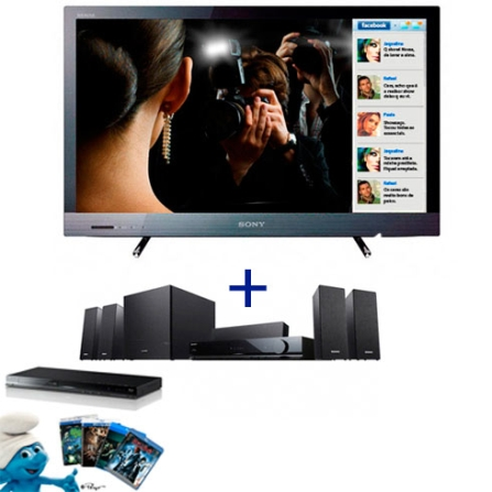 LED 40'' + Home Theater + Blu-ray Disc Player Sony, VD