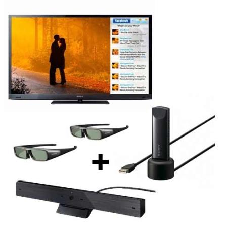 LED 40'' 3D +Câmera +Adaptador USB + 2 Óculos Sony, VD