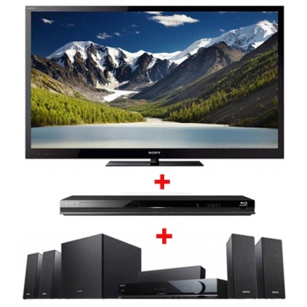 TV LED 40'' 3D Full HD +Home Theater +Blu-ray Sony, VD