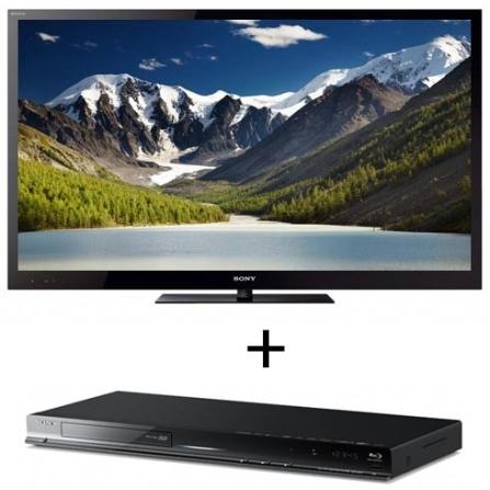 TV LED NX725 40'' 3D + Blu-ray 3D BDPS580  Sony, VD