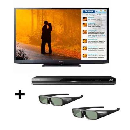Linha 2011:TV LED Sony Bravia EX725 com 46