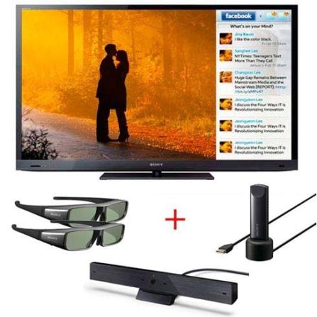 LED 55'' 3D +Câmera +2 Óculos +Adaptador USB Sony