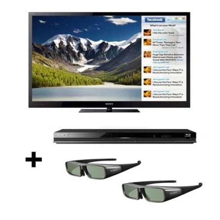 Linha 2011:TV LED Sony Bravia NX725 com 55