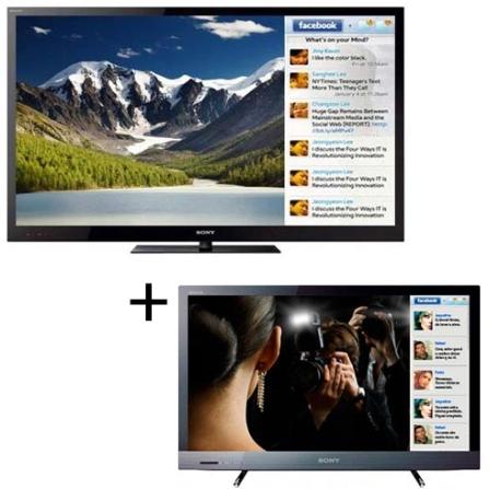 TV LED NX725 60'' 3D + TV LED EX525  40'' Sony