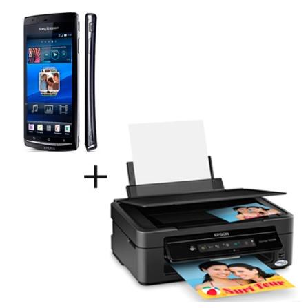 Sony Ericsson Câmera 8.1MP +  Multifuncional Epson