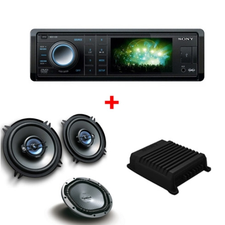 DVD Player Automotivo Sony Xplod XV30 com 26W, Tela Wide de 3
