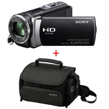 Filmadora Sony Handycam CX190 Preta com LCD de 2,7