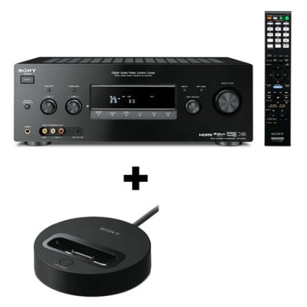 Receiver 7.1 Canais / DMPort / Dolby TrueHD / Neural THX Surround / 5 Conexões HDMI + Adaptador DMPort para iPod e iPhon