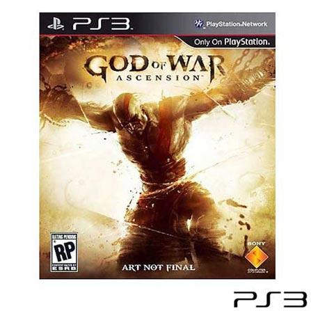 Console Playstation 3 250GB Preto + Jogo God of War Collection + Jogo God of War 3 + Jogo God Of War Ascension