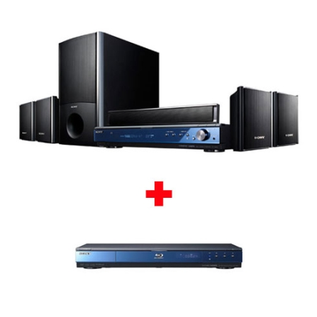 Home Theater 5.1 Canais 1000W + Blu-ray Sony, VD
