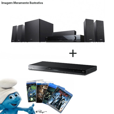 Home Theater com 720W + Blu-ray 3D com wi-fi Sony