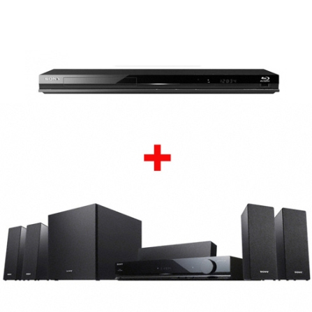 Home Theater 5.1 e 720W Sony + Blu-ray 3D Sony
