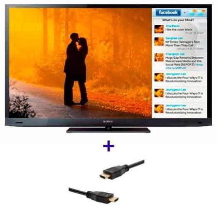 TV LED Sony Bravia EX725 com 32